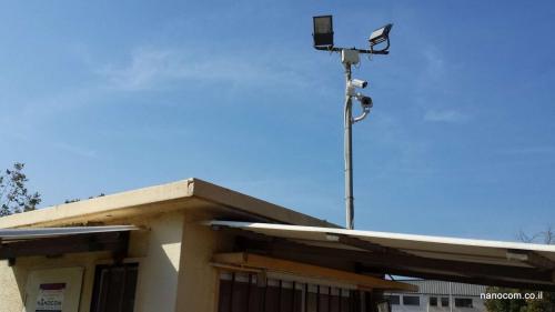 מצלמות אבטחה בשער ישוב